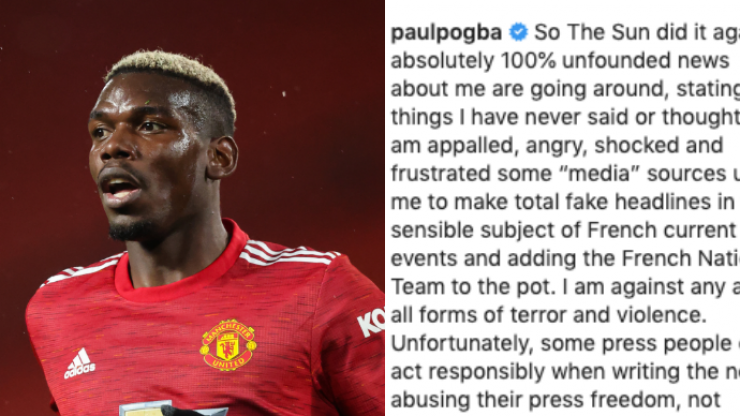 Paul Pogba releases powerful statement in response to 'fake news' from The Sun