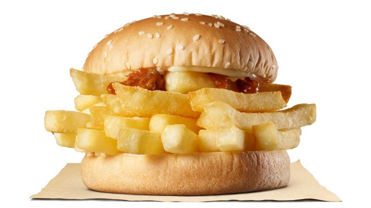 Brits confused as Burger King launches 'chip butty' burger in Japan