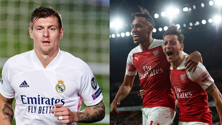 Mesut Ozil wades in on Toni Kroos' bizarre spat with Pierre-Emerick Aubameyang