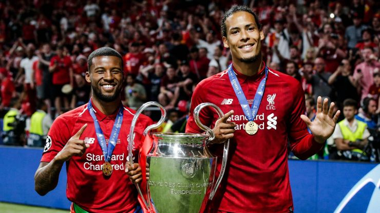 Gini Wijnaldum pays classy tribute to injured Virgil Van Dijk with goal celebration
