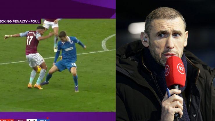 Martin Keown outraged as VAR reverses last gasp Aston Villa penalty