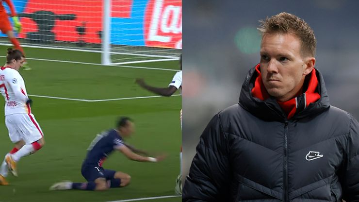 Furious Julian Nagelsmann accuses Angel Di Maria of diving for crucial PSG penalty