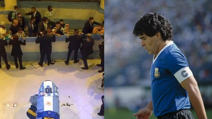 Thousands visit Diego Maradona's coffin in presidential palace