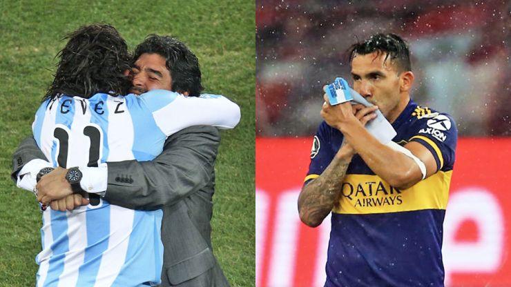 Carlos Tevez honours his 'eternal' hero Maradona with beautiful tribute
