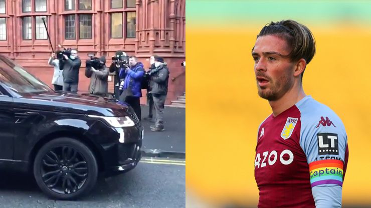 Jack Grealish uses car as decoy to avoid media as he enters court