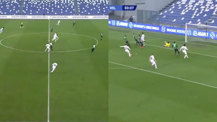 AC Milan score fastest ever goal in European top five leagues against Sassuolo