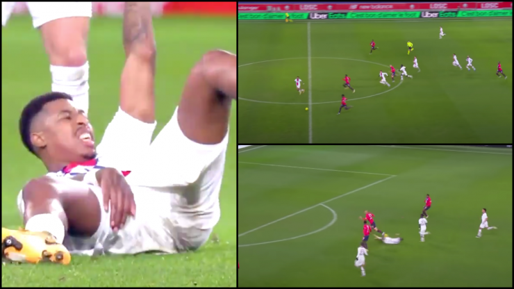 Presnel Kimpembe makes last ditch tackle after pulling hamstring to prevent certain goal