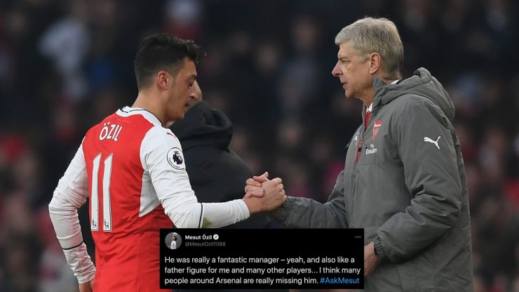 "Mesut Özil says people around Arsenal are ""really missing"" Arsene Wenger"