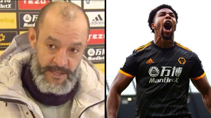 Nuno Espírito Santo reveals why Adama Traore rubs baby oil on his arms before games