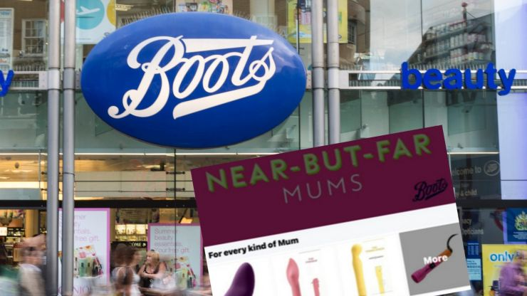 Boots apologises for advert on treating mothers to sex toys on Mother's Day