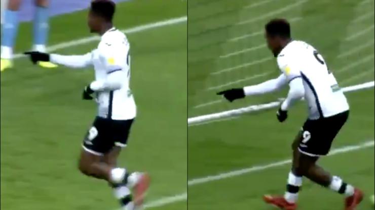 Swansea's Jamal Lowe trolls Ben Foster with goal celebration