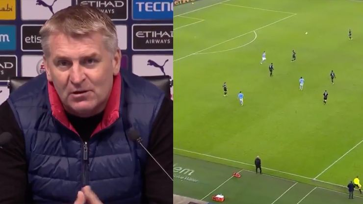 Furious Dean Smith slams Man City opener decision after being sent off by Jon Moss