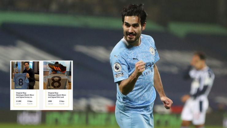 Ilkay Gundogan auctions off memorabilia to support struggling Manchester businesses