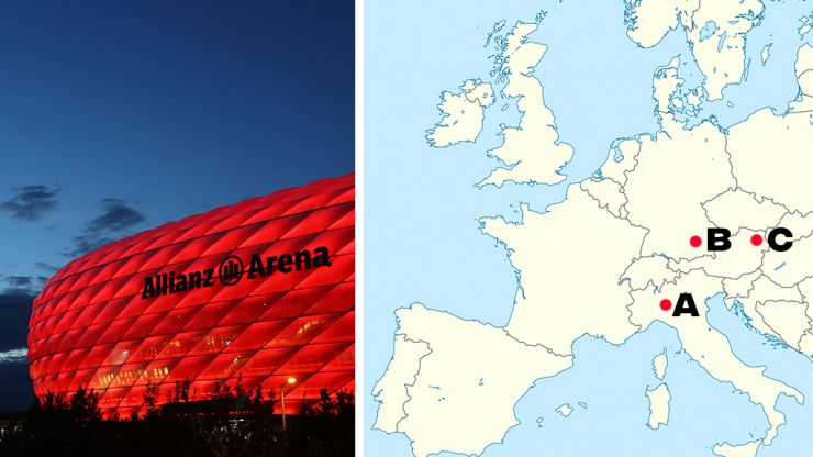 QUIZ: Find these Champions League final stadiums on a map