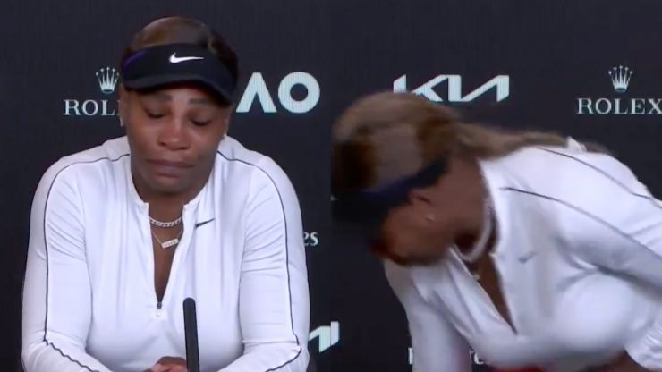 Serena Williams leaves pressroom in tears after semifinal defeat to Naomi Osaka