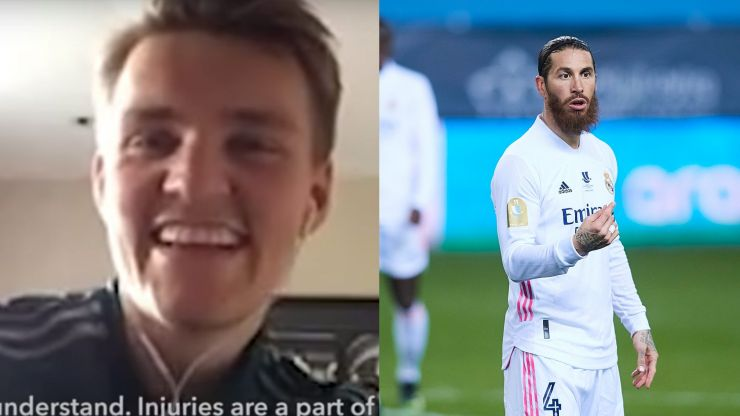 Child tells Martin Odegaard he doesn't want to be footballer in case Sergio Ramos breaks his leg