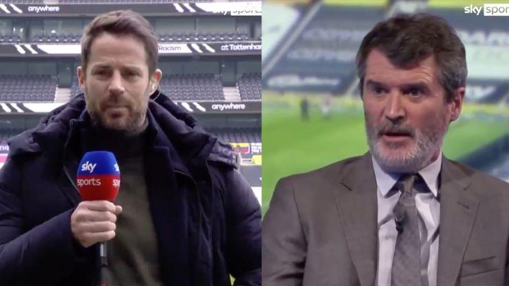Roy Keane and Jamie Redknapp in heated row over Tottenham