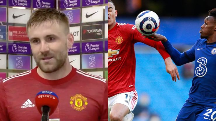 """Luke Shaw says referee didn't give penalty because it would """"cause a lot of talk"""""""