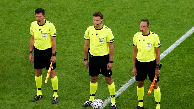 Almost every match official in England's quarter final game is German