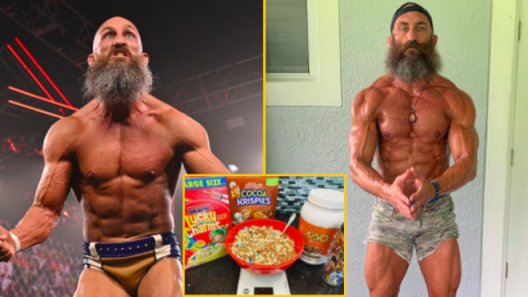 WWE superstar explains why he eats breakfast cereal after a workout