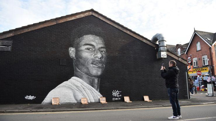 Marcus Rashford mural vandalised less than hour after Euros defeat