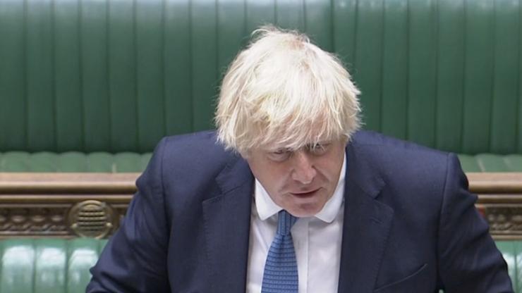Boris Johnson denies defending those who boo England players taking a knee