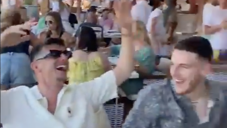 England players singing 'Sweet Caroline' on holiday is a joy to behold