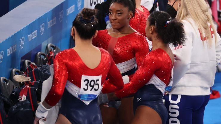 Simone Biles speaks out after withdrawing from team gymnastics finals