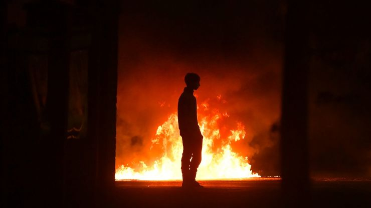 Violence continues in Northern Ireland with petrol bombs thrown at police