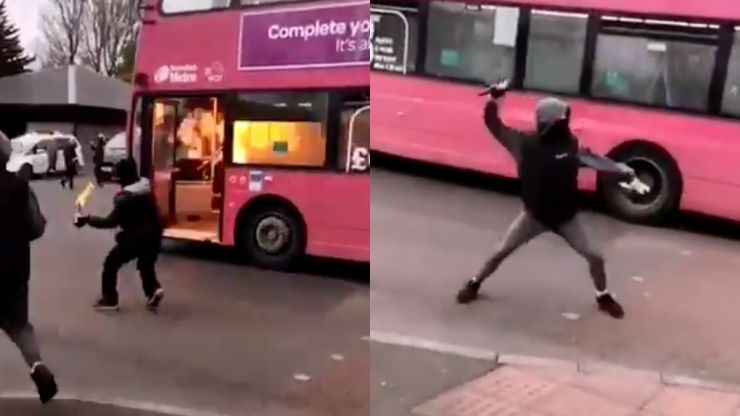 Bus hijacked and left to freewheel as Belfast violence continues