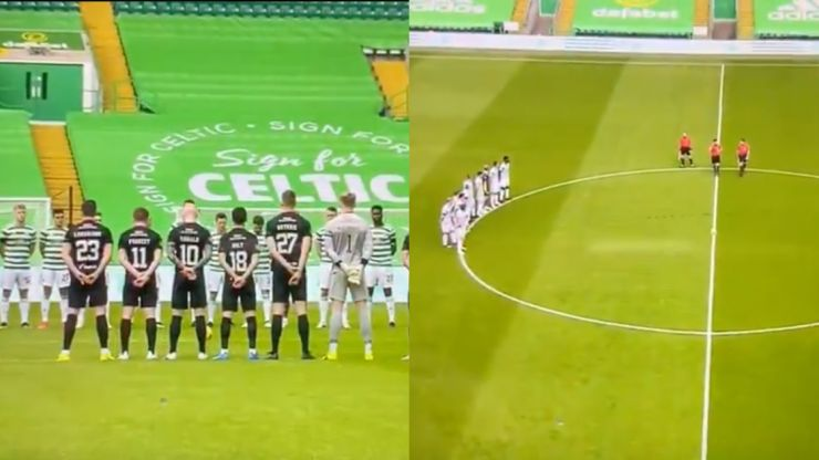 Fireworks set off during two minutes' silence at Celtic game