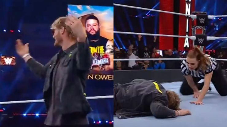 Logan Paul was on the receiving end of a Stunner at WrestleMania