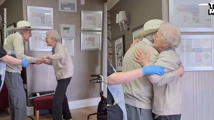 Husband surprises wife by moving into her care home in emotional reunion