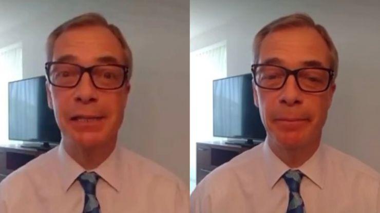 Nigel Farage 'pranked' into wishing happy birthday to 'Huge Anus'