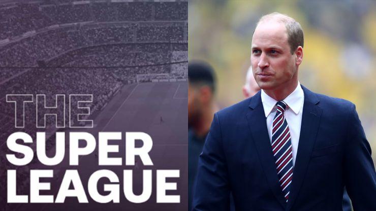 Prince William releases statement condemning European Super League