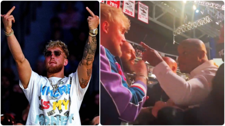 Daniel Cormier clashes with Jake Paul during UFC 261 broadcast
