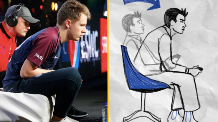 The 'gamer lean' is real and it genuinely helps you win at FIFA