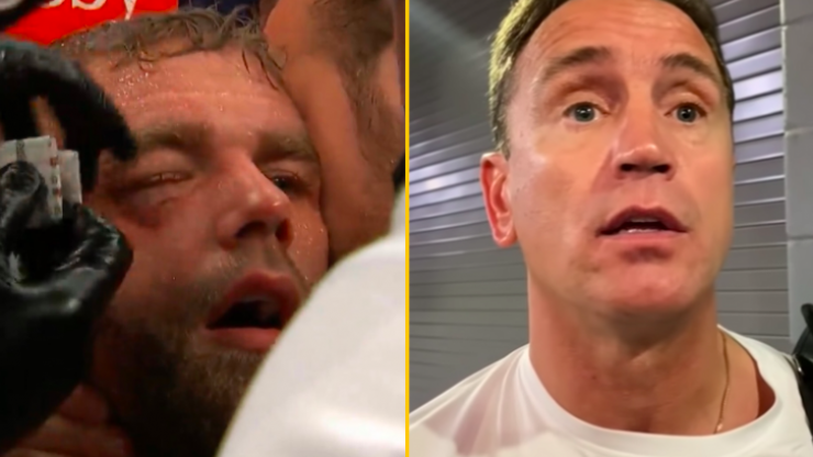 Billy Joe Saunders' trainer reveals what was said in corner before stoppage