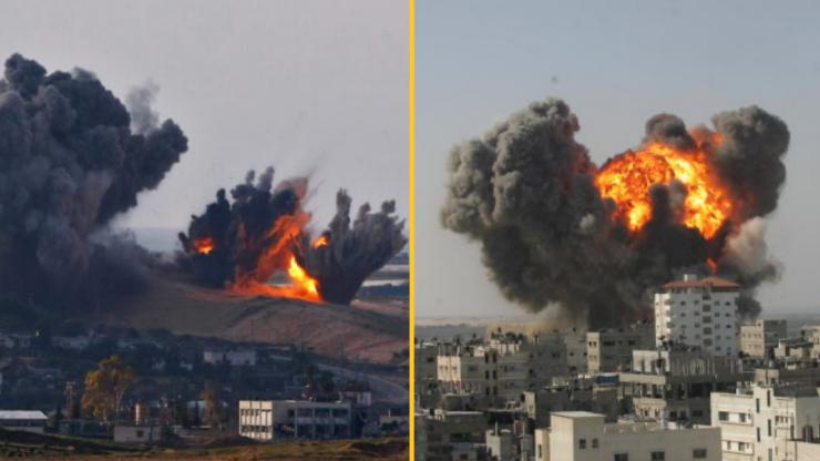Largest residential building in Gaza destroyed by Israeli air strike