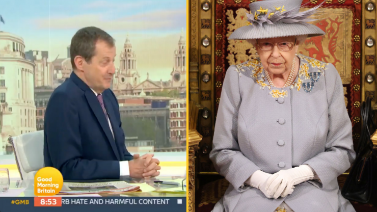 Alastair Campbell accidentally announces death of The Queen live on GMB