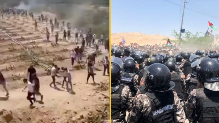 Pro-Palestinian protesters in Lebanon storm Israel border fences