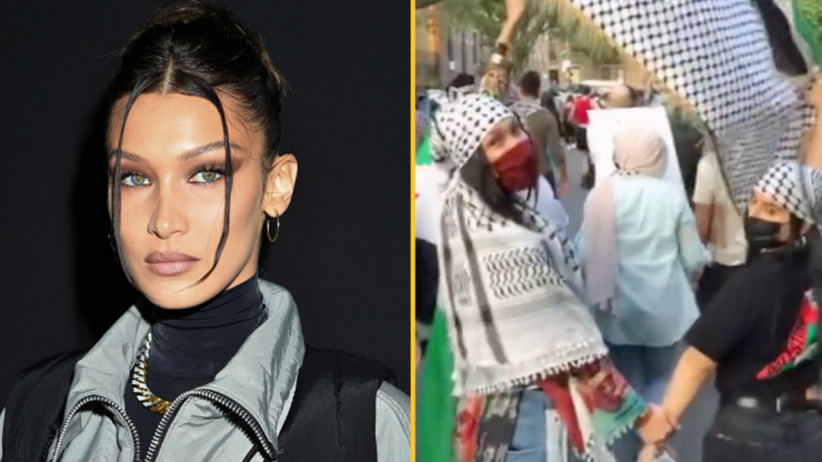 Bella Hadid cries for Palestine as she joins New York protests
