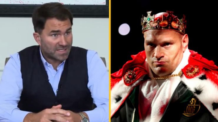 Eddie Hearn responds to claims Anthony Joshua vs Tyson Fury could be called off