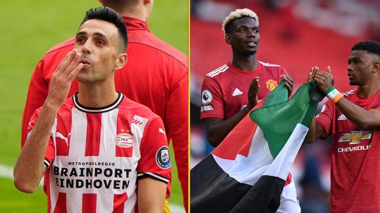 PSV's Eran Zahavi edits Israel flag into Pogba and Diallo's Palestine flag gesture