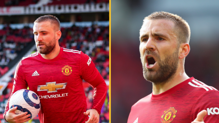Luke Shaw stands up for Man United fan who threw green and gold scarf at him