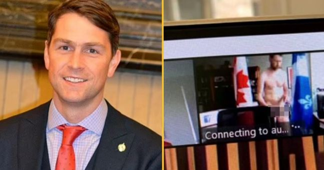Canadian MP urinates into coffee cup on official video
