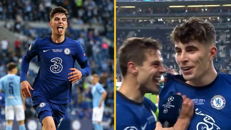 Kai Havertz gives perfect reply when asked about price tag after Champions League-winning goal