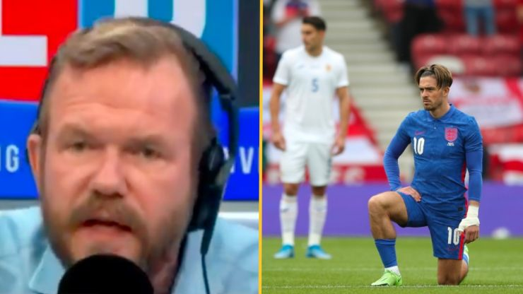 James O'Brien beautifully dismantles argument of England fan who booed the knee