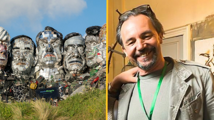 G7 'Mount Rushmore' in waste appears in Cornwall near summit