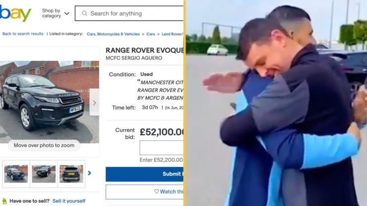 Range Rover gifted by Aguero to City staff member has been listed on eBay